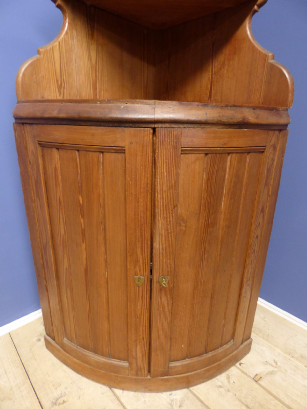 Antique French Cupboard / Corner Cupboard - g122